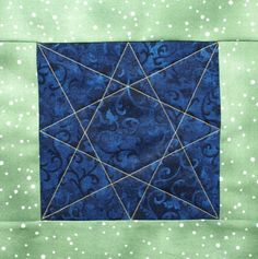 eight pointed star - a continuous line quilting motif - A Free Motion Friday Post