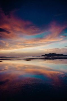 """When the sunset looks like a painting and reflected perfectly like a mirror off the wet sand! Beautiful pink, purple, and turquoise blue sunset sky and reflections off the beach in Tamarindo Costa Rica. """"Paint the Sky"""" sunset print by Kristen M. Landscape Photography Tips, Sunset Photography, Photography Tutorials, Photography Hacks, Beautiful Sky, Beautiful Landscapes, Blue Sunset, Magic Mirror, Sky Landscape"""