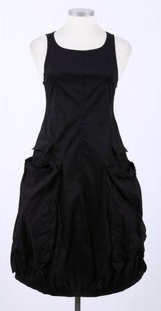 rundholz - balloon dress with pockets Stretch black - Summer 2015