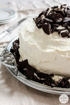 Cookies and Cream Cake | Inspired by Charm @inspiredbycharm