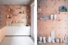 This Studio Apartment has an Amazing Peg Board Storage Wall: Peek at the Kitchen