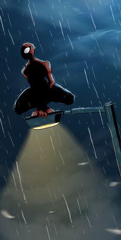 Spiderman at night by cury.deviantart.com on @deviantART