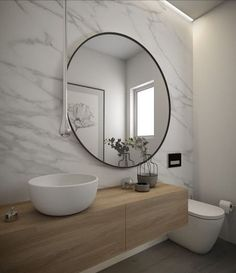 Moderne Badezimmer Badezimmer Moderne Badezimmer ist ein design, das sehr belieb… Modern bathroom Bathroom Modern bathroom is a design that is very popular today. Design is the search to make that make the house, so it looks modern. Every houseb … Bathroom Toilets, Laundry In Bathroom, Bathroom Renos, Master Bathroom, Bathroom Marble, Marble Wall, Bathroom Ideas, Mirror Bathroom, White Bathroom