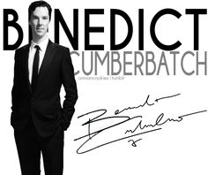 Benedict Cumberbatch has signed my board.  My life is complete...  Not really...