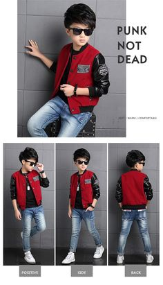 Boys Coat Polyester Faux Leather Casual Children Hoodies Brand Autumn Teenage Boys Jackets Patchwork Letter Kid Clothes For Boys - Kid Shop Global - Kids & Baby Shop Online - baby & kids clothing toys for baby & kid - June 15 2019 at Little Boy Fashion, Kids Fashion Boy, Womens Fashion, Clothing Shopping Sites, Baby Boy Outfits, Kids Outfits, Trendy Outfits, Kids Clothes Boys, Kids Clothing