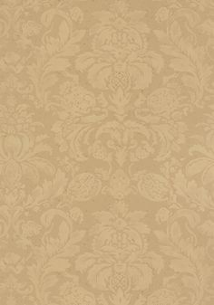 With a soft water-color technique, Lyndon Damask's delicate #wallpaper pattern is available in taupe, beige, gray,pearl, camel, tobacco, and bark tones. The regal design is tranquil and luxurious, as it makes a big statement in a soft manner. Featured here in #camel from the Neutral Resource collection.  #Thibaut