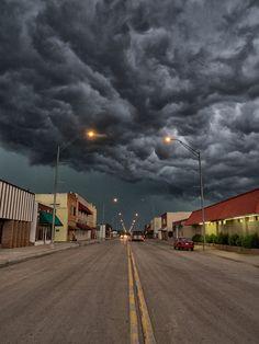 Severe thunderstorm in Buffalo, Oklahoma, USA - May 28, 2013.