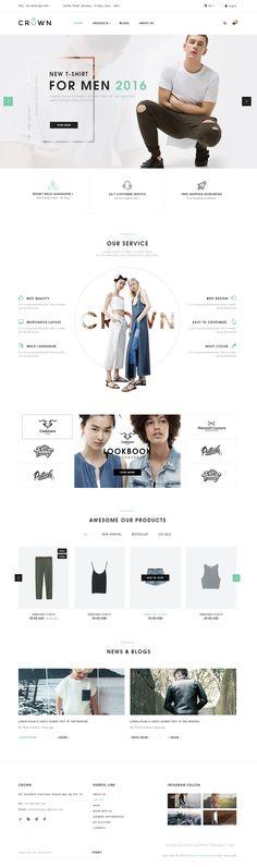 Crown is premium #PSD Template for uniquely design #eCommerce #website.