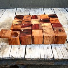 Salt cellars made from reclaimed Atlantic City Boardwalk wood from thewoodenpalate.com