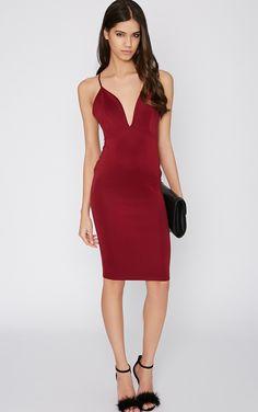 #PrettyLittleThing #Dress Mylee Wine Midi Dress-12, Multi at #PrettyLittleThing