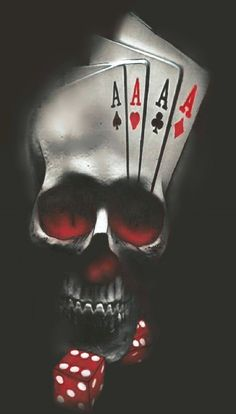 Card Tattoo Designs, Skull Tattoo Design, Tattoo Design Drawings, Art Drawings, Biker Tattoos, Skull Tattoos, Body Art Tattoos, Sleeve Tattoos, Badass Skulls