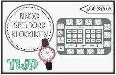 Bingo spelbord klokkijken Bingo, Telling Time, Best Teacher, Mathematics, Clock, Classroom, Teaching, Education, Circuit