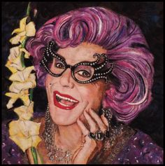 Dame Edna The latest in my Portrait Series Dame Edna x Needle felted wool Dale Roberts, Dame Edna, Wool Felt, Felted Wool, Felt Art, Figurative Art, Needle Felting, Saatchi Art, Original Paintings