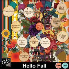 Digital Scrapbooking Kits   Hello Fall-(MemMos)   Everyday, Memories, Nature, Outdoors, Seasons, Seasons - Autumn   MyMemories Spiced Apple Cider, Paint Shop, Hello Autumn, Autumn Theme, Photoshop Elements, Photo Book, Digital Scrapbooking, Design Elements