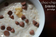 banana choc-chip porridge