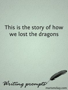This is the story of how we lost the dragons. Was already done by the How to train your dragon book series but could be retold