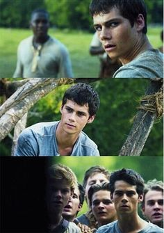 Dylan O'Brien in The Maze Runner as Thomas