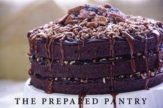 A fine Turtle Cake. Find the recipe here: https://www.preparedpantry.com/blog/make-fine-chocolate-turtle-cake/ ENJOY!