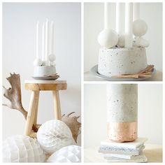 DIY: Concrete Gilded Candle Holder | recreative works blog