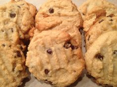 Chocolate Chip Cookies, almond flour, gluten free, paleo, delicious, melt in your mouth cookies