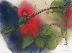 Lin Shun-Shiung(林順雄 Taiwanese, b.1948 ) 探訪 Watercolor