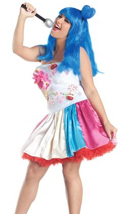 836c37344 Party King Plus Size Sweet As Candy California Girl Women s Costume -  Nastassy