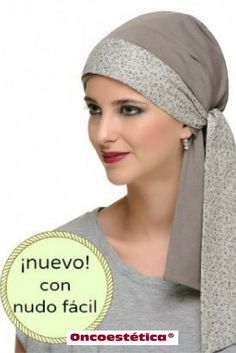 PROVENCE - Pañuelo estampado marrón neutro - Colección Carebell #oncoestetica #esteticaoncologica #vertebienimporta
