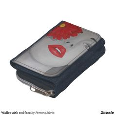Wallet with red face