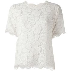 VALENTINO floral lace blouse (26.310 CZK) found on Polyvore