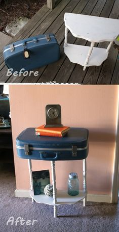 Cool Upcycled Suitcase table: http://wonderfuldiy.com/wonderful-diy-cool-upcycled-suitcase-table/  Follow us on Pinterest --> http://bit.ly/1hwW3IK