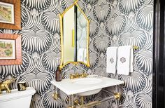 """Sue recommends Googling any wallpaper you like, to """"see it in as many room situations as possible. It's so much better than trying a little sample on the wall."""""""