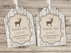 ★★★ Printed or Digital File ★★★ ♥ Woodland Deer Baby Shower Favor Thank You Tags ★ DESCRIPTION ► 24 - 48hrs turn around time for digital orders 5-7 days for printed orders ► Size 2x3 ► Printed Tags come tied with ribbon ► Free Shipping on Printed orders! ► High Resolution 300 dpi File ♥