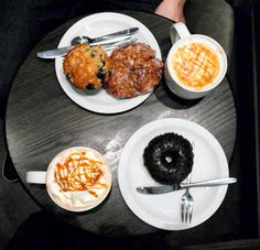 Rainy afternoon at starbucks with bae. Apple fritter, blueberry muffin,chocolate doughnut and some coffe - caramel macchiatto with whiooed cream and caramel topping! What do you want more? ;)