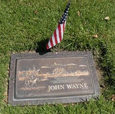 Jeff amd I decided we would try to find the burial site of John Wayne in Pacific View Memorial Park in Corona del Mar (next to Newport. John Wayne Quotes, John Wayne Movies, Westerns, Famous Graves, Old Movie Stars, Actor John, Western Movies, Famous People, Movies