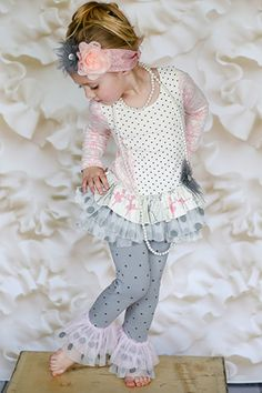 Giggle Moon Tutu Swing Set Graced in Pink and Gray PREORDER $66.00