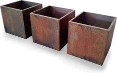 Illustration of Corten Steel Planters