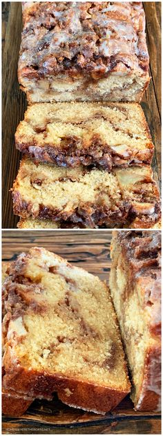 Cinnamon Swirl Apple Fritter Bread is an easy and crowd-pleasing recipe! Enjoy this quick bread any time of year with coffee for breakfast or with tea for an afternoon treat. This Cinnamon Swirl A… Apple Cinnamon Bread, Apple Fritter Bread, Apple Fritters, Cinnamon Swirl Cake, Apple Bread Recipe Healthy, Apple Banana Bread, Cinnamon Rolls, Bread Machine Recipes, Dessert Recipes