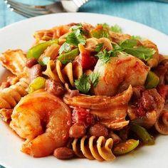 Cajun-Style Pork and Shrimp Pasta