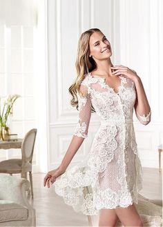 Glamourous Short  Tulle Sheath V-neck Neckline Natural Waistline Wedding Dress