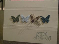 Goin' Over The Edge: Beautiful Wings embosslit card...