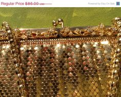 ON SALE Vintage mesh bling bling whiting and Davis co by Mamaphias, $64.50