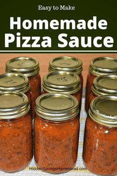 Make and can your own pizza sauce using fresh tomatoes. How to make pizza sauce for pizza. Home Canning Recipes, Cooking Recipes, Canning Tips, Pizza Recipes, Diet Recipes, Canning Pizza Sauce, Pizza Sauce Recipe Fresh Tomatoes, Canned Tomato Sauce, Recipes