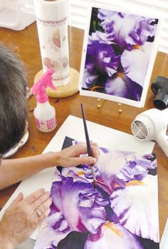 All About Iris: Watercolor with June Rollins - John C. Campbell Folk School Blog