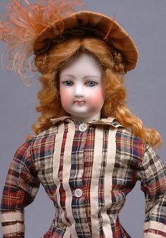 "Stunning 15.5"" Jumeau French Fashion Doll ~Original Dress + Antique Ensemble WOW"