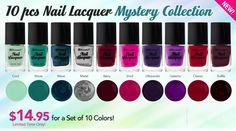 10 Piece Nail Lacquer Set: Mystery Collection! I'M SO EXCITED!!!