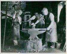 Vintage photo of Connie Wills, blacksmiths striker.