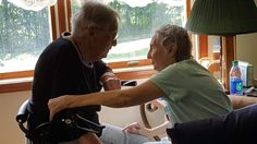 My friends 96 year old grandmother visiting her 76 year old daughter in the nursing home. http://ift.tt/2tW6ios