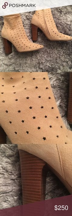 db5a7d7ef See by Chloe Soft suede with star cut outs - 3 in heel See By Chloe Shoes  Ankle Boots & Booties