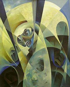 Rientro dallo spazio, Tullio Crali, olio su tela1969 Italian Painters, Italian Artist, Italian Futurism, Futurism Art, Abstract Art Images, Geometric Art, Contemporary Paintings, Modern Art, Illustration Art