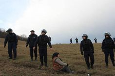 Villagers from Pungesti stop Chevron Fracking again, riot police unleash terror at night in retaliation Wesley Clark, Us Army General, Anti Fracking, Chevron, Shale Gas, Riot Police, City People, Peaceful Protest, Political Issues